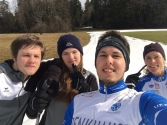 enjoying the last snow at home with my sister and brothers