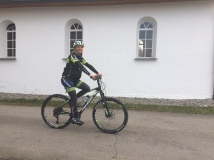 thanks to a high stem biking is still comfortable :-)